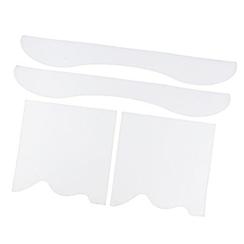 Fenteer 1 set Anti-Rutsch-Sandpapier Aufkleber für Skateboard Deko - Transparent B -
