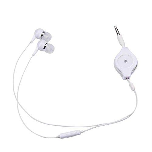 Yusell 3,5 mm einziehbarer Speicher Super Bass Stereo In-Ear-Kopfhörer Sport-Headset