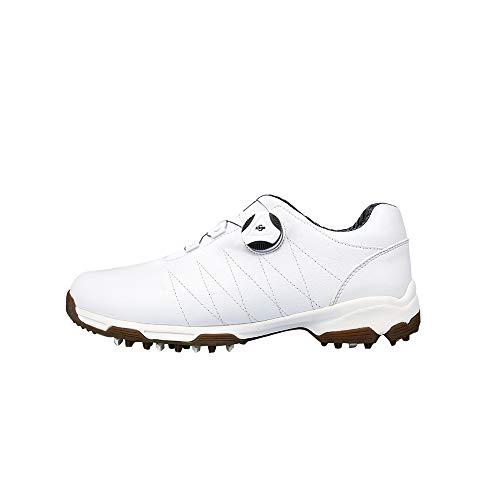 Scarpe da Golf da Donna, Leggero Picchi di Scarpe da Golf Impermeabile Traspirante Fibbia Girevole, Scarpe da Allenamento da Golf Antiscivolo Comode e Indossabili