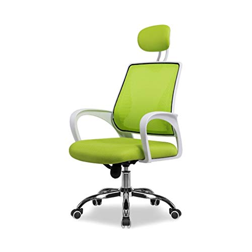YJchairs Stuhl-Büro, Das Ergonomisches Maschen-Sitz-anhebendes Drehbares Mit Rad-Kopfstütze Lernt (Farbe : Green, größe : #2) (Schritt 2 Grill)