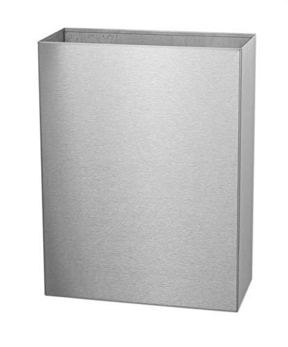 Basicline Offener Abfallbehälter 25 Liter aus Edelstahl zur Wandmontage