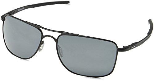 Oakley Herren Gauge 8 412402 62 Sonnenbrille, Schwarz (Matte Black/Prizmblackpolarized),