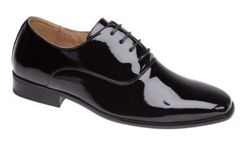 Hombre Noche / Uniforme / Zapatos Oxford Charol Negro - Negro, Hombre, 43 EU
