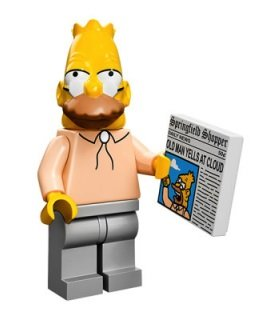 The Simpsons Lego Mini Figura Abuelo