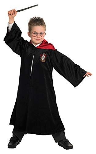 Rubie's Offizielles Harry Potter Gryffindor Deluxe Bademantel Kinder Kostüm (Harry Potter Kind Kostüm Kit)