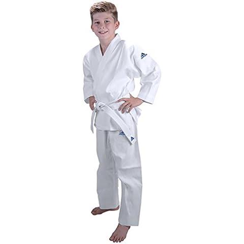 adidas–Kimono de judo J181Inicio Niños, judo, color blanco, tamaño 100