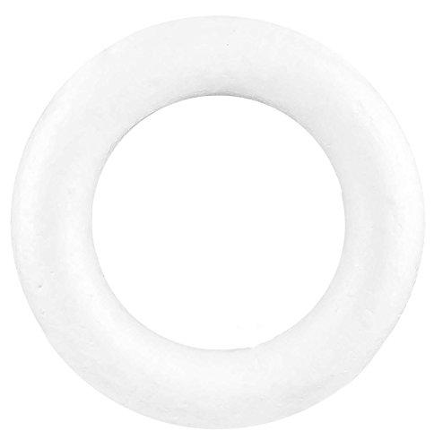 maDDma ® 1 Styropor Kranz Durchmesser 33cm, weiß
