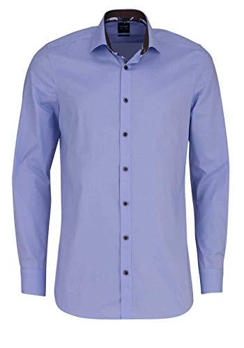 OLYMP Level Five Herren Hemd Body Fit Langarm bleu (50) 42