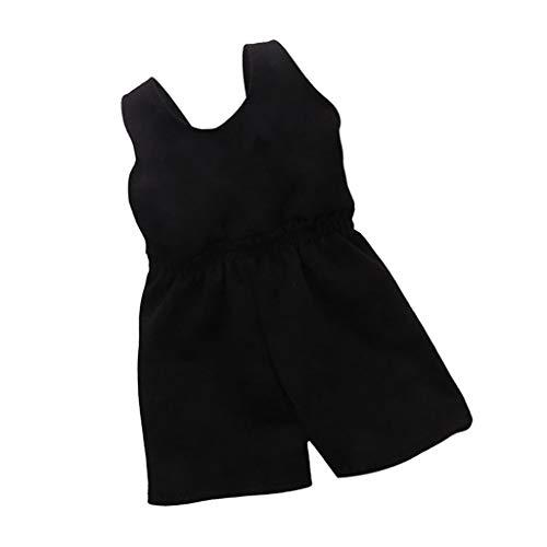 CUTICATE 2pcs Schwarze Kleidung Für 18inch Amerikanische Puppe My Life Doll Sportswear