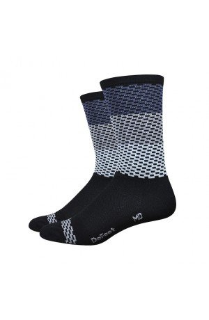 CALCETINES DEFEET AIREATOR 6 CHARLESTON GRIS BLANCO 2016