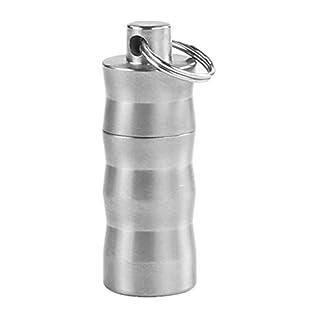 aiber Mini Titan Pille FOB Wasserfeste Parfüm Halter Anhänger Pille Fall mit Kette