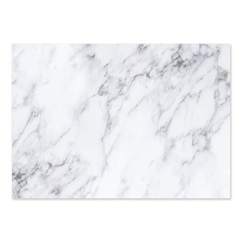 Schreibtischunterlage mit Marmor-Optik I dv_366 I DIN A2 I 25 Blatt I aus Papier zum Abreißen I Schreib-Unterlage neutral, modern, elegant I weiß grau