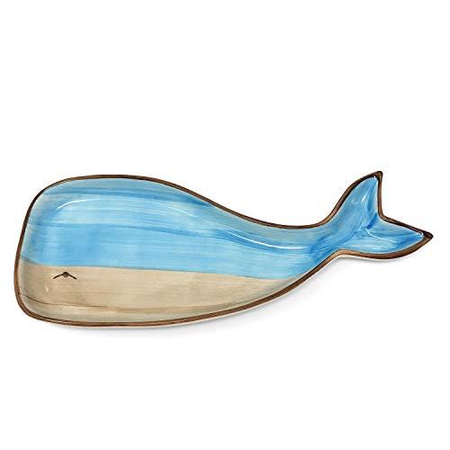 Creative 39beeinflußt Wal 26Platte aus Steingut, Blau und Hellbraun Keramik Relish Tray