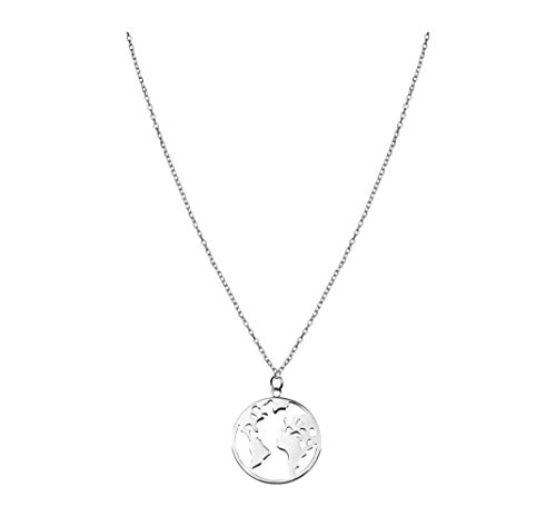 SOFIA MILANI Damen Halskette Globus Weltkarte 925 Silber 50209