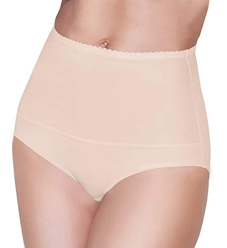 Damen figurenformend Miederslip mit Bauch-Weg-Effekt Stark Formend Miederpants Miederslip Damen Unterwäsche Große Größen (M, Beige)