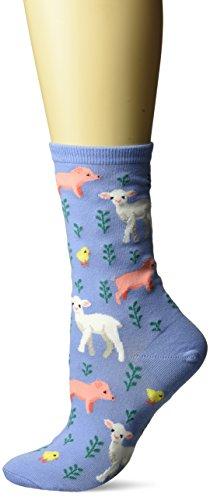 0e0860286852e Hot Sox Women's Originals Fashion Crew Socks Hosiery, Piglet, Lamb, and  Chick (