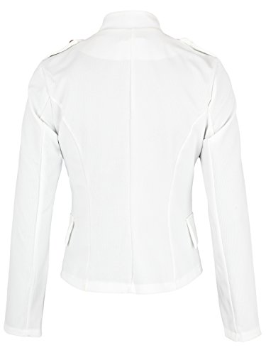 Danaest - Veste de tailleur - Blouson - Uni - Manches Longues - Femme Weiß