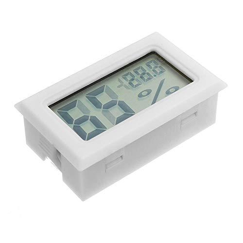 Lujianghuixin 3 Stücke Mini Digital LCD Digital Hygrometer Thermometer Kühlschrank Gefrierschrank Temperatur-Und Feuchtigkeitsmessgerät Weiß