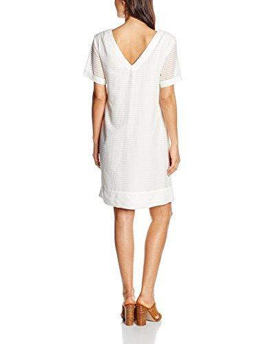 Tom Tailor Burn Out Stripe Dress, Robe Femme Ecru - Elfenbein (whisper white 8210)
