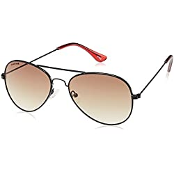 Fastrack Gradient Aviator Unisex Sunglasses - (M139BR1F|Brown Color)