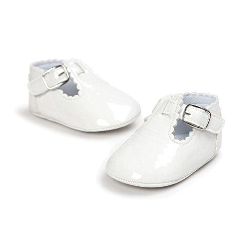 Kolylong Chaussures Bébé Lettre Princesse Dentelle Blanc