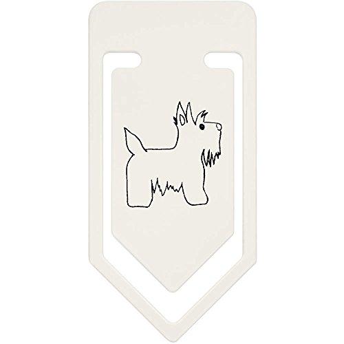 Azeeda 91mm 'Scottie Hund' Große Plastik Büroklammer (CC00036115) -