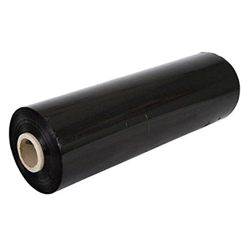 Stretchfolie schwarz PE (500mm Breite. 300m Länge. 23Mu)