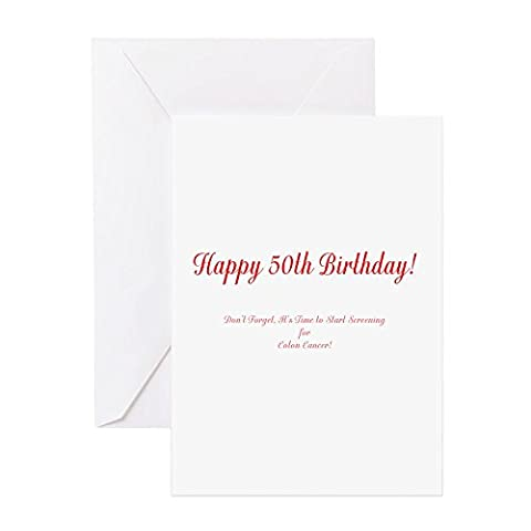 CafePress - 50Th Birthday Stop Colon Cancer Greeting Cards -