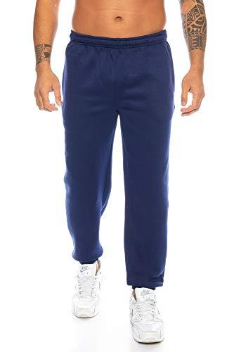 Navy Baumwolle Pyjama (Raff & Taff Herren Hose M bis 6XL   Sporthose Sweatpants Pyjamas Übergrößen Funtionshose Trainingshose Jogginghose   Premium Baumwolle (Navy, XL))