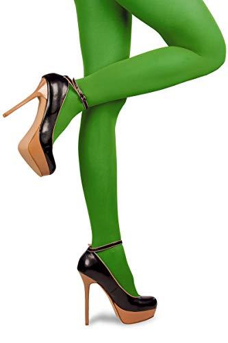 Thetru Damen-Strumpfhosen in grün | Größe L/XL | Blickdichte-Strumpfhosen für Karneval und Fasching (grün)