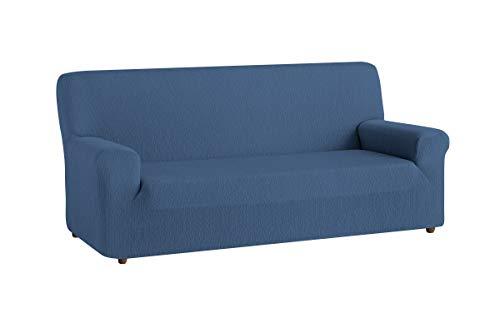 Textilhome - Copridivano TEIDE Elasticizzato, Taglia 3 Posti - 180 a 240 cm. Colour Blu