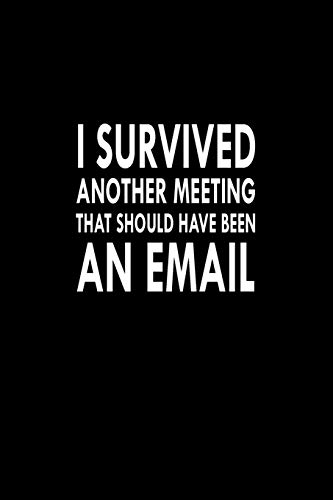 I Survived Another Meeting That Should Have Been An Email: Great Gift Idea With Funny Saying On Cover, For Coworkers (100 Pages, Lined Blank 6
