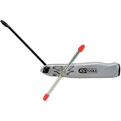 KS Tools 115.1059 - Herramienta de sujeción y corte para flejes de manguera (tamaño: 163 mm)
