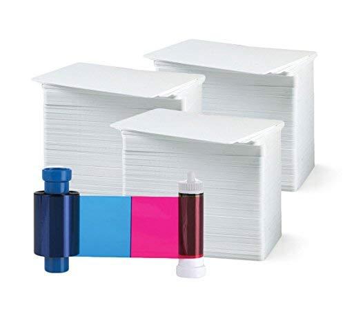 Bodno Ma300Ymcko Farbband - YMCKO - 300 Drucke mit Premium-CR80 30 Mil Grafik-Qualität PVC-Karten Anzahl 300 Magicard Magicard MA300YMCKO -