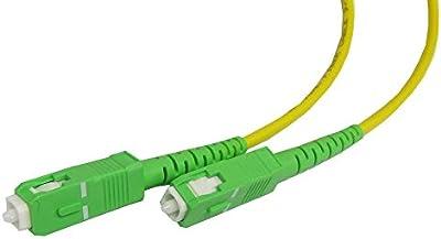 Cablematic - Cable de fibra óptica SC/APC a SC/APC monomodo simplex 9/125 de 10 m