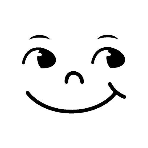 Jungen Smiley-gesicht (JUNGEN Smiley Gesicht Wandaufkleber Wasserdicht Wandtattoo Wandsticker Wanddekoration)