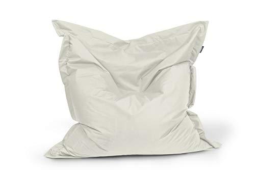 BuBiBag Sitzsack Sitzkissen Bean Bag Rechteck Größe 160 x 145 cm Indoor und Outdoor (beige)
