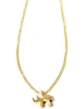Goldfarbene Halskette mit Elefanten-Anhänger