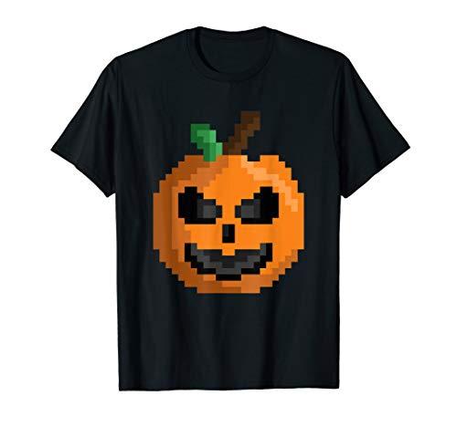 Pixel Pumpkin Jack O Lantern Halloween Gamer Costume T-Shirt (Halloween-party Adventure 2019 World)