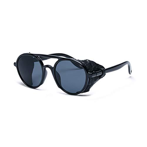 Kostüm Quadrat Brille Schwarzes - SUNGLASSES Sonnenbrille, Steampunk Retro Classic HD Nachtsichtbrille, for Autofahren, Ausflüge, Camping, Frauen und Männer - Schwarz