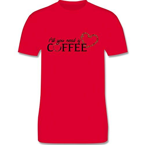 Statement Shirts - All you need is coffee - Herren Premium T-Shirt Rot
