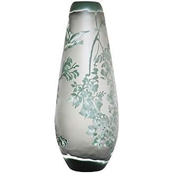 Vase Replika nach Galle Gallé Glasvase Glas Antik-Jugendstil-Stil Kopie h