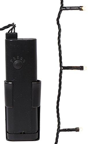 Kaemingk Durawise Batt.LED Ricelight aussen / 7.1m / 96 Lichter / schwarzes Kabel / warm weiße Dioden / mit Zeitschaltuhr