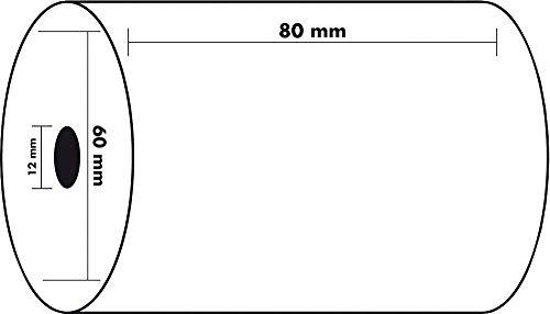 50 bobinas cajón 80 x 60 x 12 mm papel térmico cajas