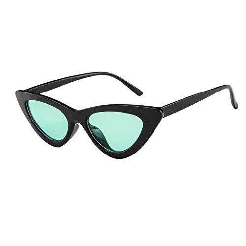 Rosennie Damen Retro Sonnenbrillen Cat Eye Sonnenbrille Vintage Polarisierte Sonnenbrillen für Frauen Mode UV400 Brillen Halbrahmen Sonnenbrille Partybrillen Europa Trendige Eyewear