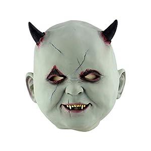 IENCA Party Dekoration Halloween MaskeLatex Horriforming Maske Mit Hut Für Maskerade Kostüm Bar Halloween, E