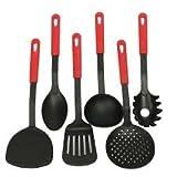 #4: 6 Pcs/set Nylon Heat-Resistant Nonstick Spoon Spatula Turner Scoop Kitchen Cooking Utensil Tools Set -Luvina