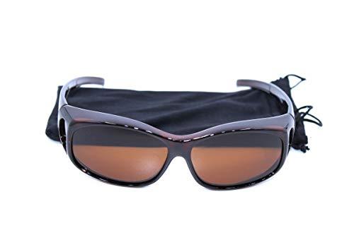 Clever & Chic Accessoires Überzieh-Sonnenbrille Polarisierend Braun klein