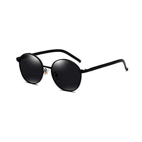 Easy Go Shopping Sonnenbrille Zweifarbige reflektierende Linse Vintage Style Classic Frame Unisex UV400 Schutzbrille. Sonnenbrillen und Flacher Spiegel (Farbe : Schwarz)