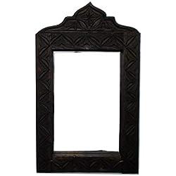 étnico Muebles de Espejo Marco Mosaico Puertas Marruecos marroquí Madera Tallada Oriental Hand Fabricado 0611181104